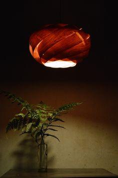 Beautiful Rosewood Nest Pendant Lamp