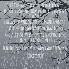 """-- #LyricArt for """"Goodbye Time"""" by Blake Shelton"""
