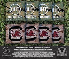 Cornhole All Weather Bag Set - Operation Hat Trick University of South Carolina Gamecocks