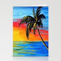 abstract tree paintings | Abstract Tropical Palm Tree Painting TROPICAL GOODBYE by MADART ...