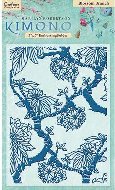 "Crafter's Companion - Kimono 5"" x 7"" Embossing Folder - Blossom Branch"