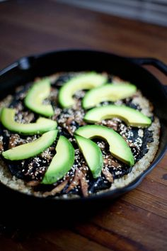 Sushi Skillet Pizza with Brown Rice Crust and Miso-Ginger Dressing