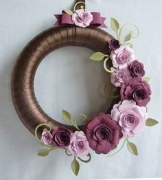 Spring Wreath by stampinjewelsd - Cards and Paper Crafts at Splitcoaststampers - Spring Wreath by stampinjewelsd – Cards and Paper Crafts at Splitcoaststampers - Felt Flower Wreaths, Felt Wreath, Fabric Wreath, Wreath Crafts, Diy Wreath, Felt Flowers, Felt Crafts, Fabric Flowers, Paper Flowers