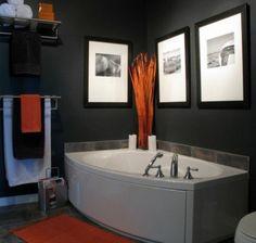 badezimmergestaltung-ideen-dekoration-badmöbel-jaccuzi-orange-akzente