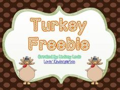 Here is a little freebie from my Thanksgiving Math and Literacy Unit.Included is a little letter work activity and a write the room activity.May I suggest....There Was an Old Lady Who Swallowed a Pie- Literacy Mini UnitTurkey Math and ELA CraftivitiesThanksgiving Morning MessagesTurkey Math and Literacy UnitFor more ideas and freebies check out my blog - Lovin KindergartenThanks for looking!Lindsey
