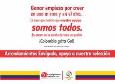 EN ARRENDAMIENTOS ENVIGADO VIVIMOS LA PASIÓN DEL FÚTBOL Y APOYAMOS A NUESTRA SELECCIÓN COLOMBIA EN ESTA COPA AMÉRICA CENTENARIO. ¿Cuál creés que será el marcador del partido entre Estados Unidos Vs. Colombia?