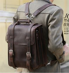 Vintage Crazy Horse Genuine Leather Backpack Men Travel backpack Large Fashion Men Backpack Leather laptop Backpack School bag-in Backpacks from Luggage & Bags on Aliexpress.com | Alibaba Group