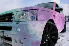 galaxy print girly car