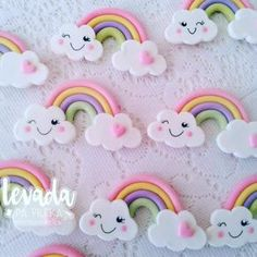 Polymer Clay Projects, Polymer Clay Crafts, Diy And Crafts, Crafts For Kids, Paper Crafts, Biscuit Decoration, Cloud Party, Food Art For Kids, Clay Baby