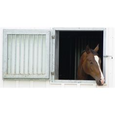 Barn window - Dutch Window Silver Series w/Bars and Tempered Glass GALV horse System Fencing