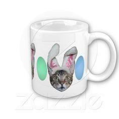 #Easter Bunny Savannah #Cat #Mugs on #Zazzle $15.70