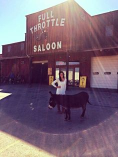 Full Throttle Saloon's Donkey!