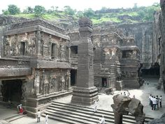 An official UNESCO World Heritage Site, the Ellora Caves consists of 12 Buddhist, 17 Hindu and 5 Jain temples and monasteries built between the and century. Ajanta Ellora, Ajanta Caves, Caves In India, Monument In India, Jain Temple, Indian Architecture, Ancient Architecture, Historical Monuments, Place Of Worship