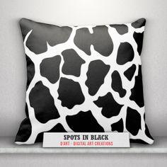 #Black and #white #pillows set... #blackandwhite #cushion #blackandwhitepillows #cowspots #modern #blackandwhitespots #zazzler #zazzleshop #zazzle #couchpillow #digitalartcreations