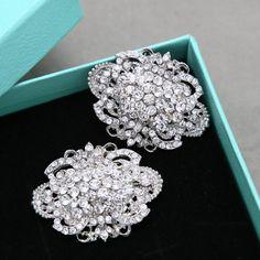 Bridal Shoe Clips Wedding Shoe Clips Jewelry by sweetygarden