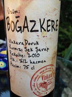 Vinkara Doruk Uzum Boğazkere Kirmizi Sek Şarap 2010