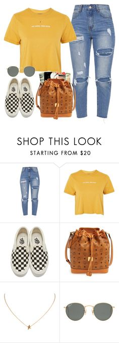 """Untitled #355"" by champagnayegang ❤ liked on Polyvore featuring Topshop, Vans, MCM and Ray-Ban"
