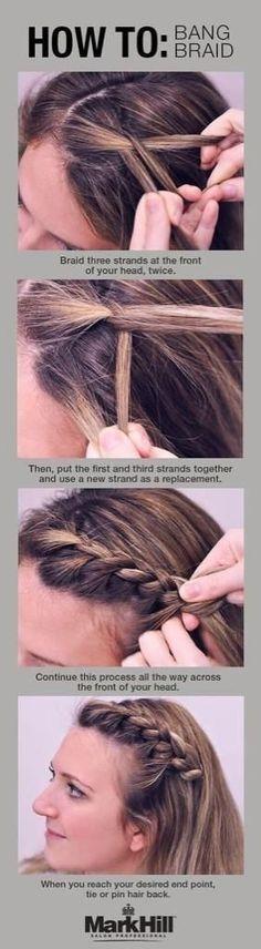 How to bang braid.