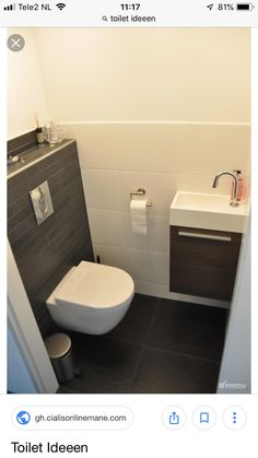 Space-saving toilet design for small bathrooms - Home to Z. Space-saving toilet design for small bathrooms - Home to Z. smalltoiletroomsmalltoiletroomSpace-saving toilet design for small bathrooms - at home for Z Space-saving toilet design for Bad Inspiration, Bathroom Inspiration, Modern Bathroom Design, Bathroom Interior Design, Understairs Toilet, Understairs Ideas, Remodled Bathrooms, Small Toilet Room, Downstairs Toilet
