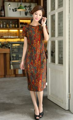 Classic Chinese Dress - Qipao Dress: Fire Phoenix $79.99 (60,26 €)