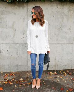 Maxed Out Lace Up Sweater