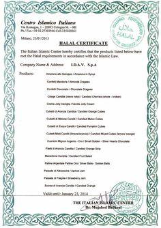 Aggiunta la sezione relativa alle #Certificazioni sul nostro sito ufficiale  #HalalItalia www.ambrosio.it