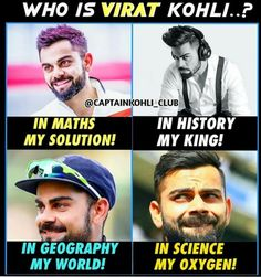 Virat The name is Enough to sayy itself🌹😄 Funny School Jokes, School Humor, Virat Kohli Quotes, Virat Kohli Instagram, Cricket Quotes, Virat Kohli And Anushka, Virat Kohli Wallpapers, Ab De Villiers, Barbie Images