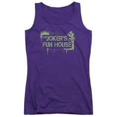 """Checkout our #LicensedGear products FREE SHIPPING + 10% OFF Coupon Code """"Official"""" Arkham City / Joker's Fun House - Juniors Tank Top - Arkham City / Joker's Fun House - Juniors Tank Top - Price: $29.99. Buy now at https://officiallylicensedgear.com/arkham-city-joker-s-fun-house-juniors-tank-top"""