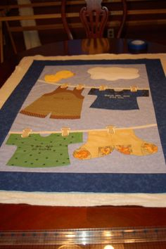 CLOTHS LINE BABY QUILT