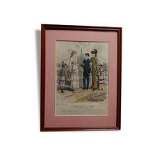 Gravure du Moniteur de La Mode vendu par Vintage Coup de Coeur - MONTREDON LABESSONNIE (81 - Tarn). État : Bon état, Materiau : Bois, Style : Art Déco, Couleur : Multicolor