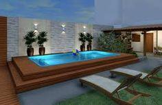 Resultado de imagem para area gourmet com piscina moderna