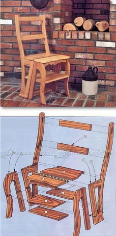 Chair Step Stool Plans - Furniture Plans and Projects - Woodwork, Woodworking, Woodworking Plans, Woodworking Projects Woodworking Shows, Woodworking Furniture Plans, Woodworking Basics, Woodworking Crafts, Woodworking Joints, Woodworking Supplies, Woodworking Classes, Teds Woodworking, Diy Wood Projects
