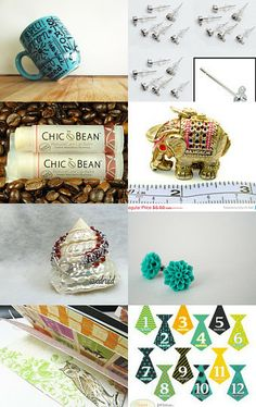 TOP 16 Must Haves by CHIC Bean http://etsy.me/1jrWecO via @Etsy #opalstuds #opalearrings #turquoisenecklace #crafts #findings #cards #mugs