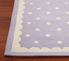 Love purple and polka dots!  Daisy Garden Lavender | Pottery Barn Kids