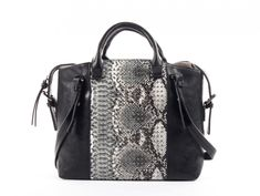 BLAKE, SATCHEL By Joanel 109.99$ CAD Satchel with snake and studs