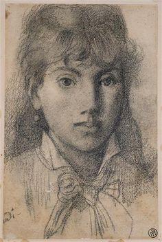 Puvis de Chavannes Portrait of Berthe Morisot Musée de Picardie, Amiens… Paul Gauguin, Berthe Morisot, Impressionist Art, Manet, Art Graphique, Lovers Art, Painting & Drawing, Art Drawings, Illustration Art