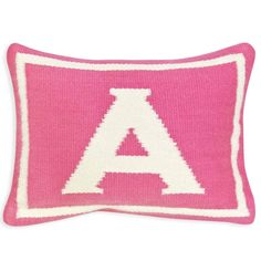 Explore throw pillows and accent pillows from Jonathan Adler. Modern needlepoint, woven letter, patterned and embellished decorating pillows in a variety of colors and textures. Modern Throw Pillows, Throw Cushions, Toss Pillows, Decorative Pillows, Accent Pillows, Jonathan Adler, Letter Cushion, Letter Pillow, Baby Girl Letters