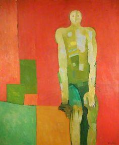 Figure in a Red Room - John Keith Vaughan paintings