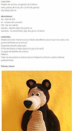Frozen Crochet, Crochet Disney, Knitted Teddy Bear, Crochet Bear, Marsha And The Bear, Spanish Pattern, Sombrero A Crochet, Turkish Pattern, Tiny Teddies