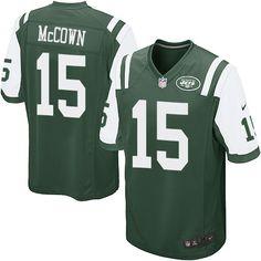 Men s Nike New York Jets  15 Josh McCown Game Green Team Color NFL Jersey  Football 97d5b5e6a
