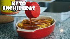 Cheesy Keto Enchiladas Recipe | Low Carb Mexican Food - YouTube