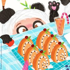 Work in progress | children's illustration by Sofia Cardoso #kidlitart #illustration #panda #cake