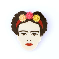 Carry Frida with you wherever you go with this Frida Kahlo brooch, complete with pink, peach and yellow resin flowers. I used to think I was the strangest person in the world but then I thought there are so many people in the world, there must be someone just like me who feels