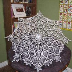 Making this doily right now.  Possible ideas of what to do with it?