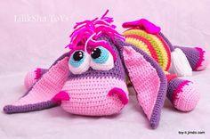 Crochet toy Amigurumi Pattern Sweet Purple Donkey. by LilikSha