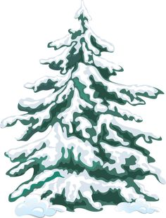 Winter Clip Art | Winter Evergreen Tree