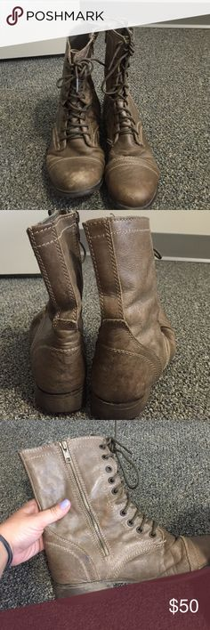 Selling this Authentic Steve Madden combat boots in my Poshmark closet! My username is: elenapelka1. #shopmycloset #poshmark #fashion #shopping #style #forsale #Steve Madden #Shoes