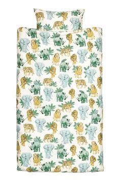 Komplet pościeli: Pościel z cienkiej bawełny we wzorzyste nadruki. Jedna poszewka na poduszkę. Przędza 30s. Gęstość 144.