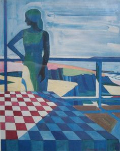 Roland Petersen Bay Area Figurative Movement, Richard Diebenkorn, Ocean Park, Art Station, California Style, Classical Music, Picnics, Figurative Art, Pintura