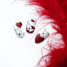 Маникюр Дизайн Cute Nail Art, Cute Nails, Monkey Nails, Nail Art Fleur, Color Block Nails, Valentine Nail Art, Animal Nail Art, Heart Nails, Flower Nails